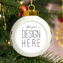 Heirloom Ceramic Noel Ball Ornament
