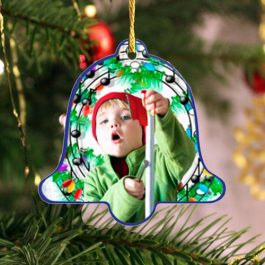 Bell Holiday Keepsake Ornament 2 sided