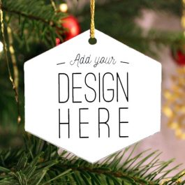 Hexagonal Acrylic Keepsake Ornament