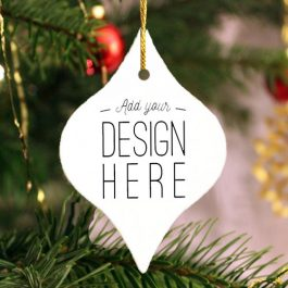 Tapered Holiday Keepsake Ornament 2 sided