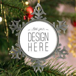 Personalized Pewter Snowflake Keepsake Ornament
