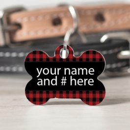 Pet tag 2 sided bone shape